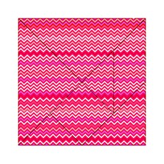 Valentine Pink and Red Wavy Chevron ZigZag Pattern Acrylic Tangram Puzzle (6  x 6 )