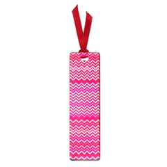 Valentine Pink and Red Wavy Chevron ZigZag Pattern Small Book Marks