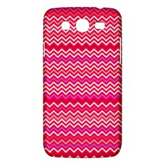 Valentine Pink and Red Wavy Chevron ZigZag Pattern Samsung Galaxy Mega 5.8 I9152 Hardshell Case