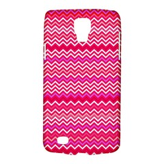 Valentine Pink and Red Wavy Chevron ZigZag Pattern Galaxy S4 Active
