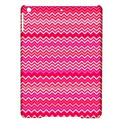 Valentine Pink And Red Wavy Chevron Zigzag Pattern Ipad Air Hardshell Cases