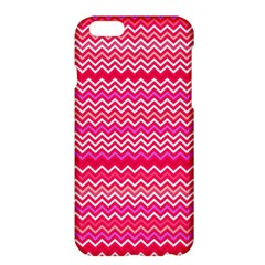 Valentine Pink and Red Wavy Chevron ZigZag Pattern Apple iPhone 6 Plus/6S Plus Hardshell Case
