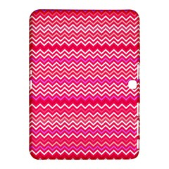 Valentine Pink and Red Wavy Chevron ZigZag Pattern Samsung Galaxy Tab 4 (10.1 ) Hardshell Case