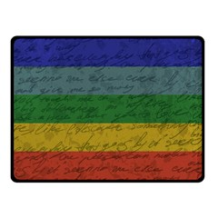 Vintage Flag   Pride Double Sided Fleece Blanket (small)