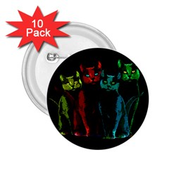 Cats 2 25  Buttons (10 Pack)
