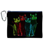 Cats Canvas Cosmetic Bag (XL) Front