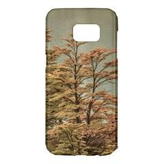 Landscape Scene Colored Trees At Glacier Lake  Patagonia Argentina Samsung Galaxy S7 Edge Hardshell Case