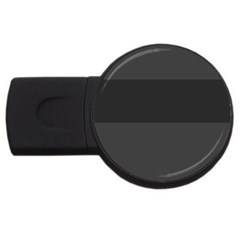 Gray And Black Thick Stripes Usb Flash Drive Round (2 Gb)