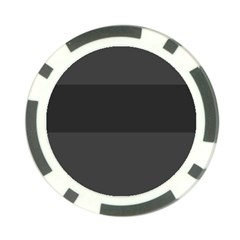 Gray And Black Thick Stripes Poker Chip Card Guard