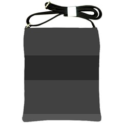 Gray And Black Thick Stripes Shoulder Sling Bags