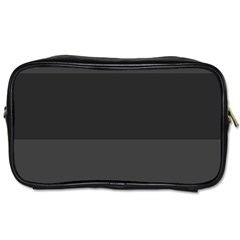 Gray And Black Thick Stripes Toiletries Bags