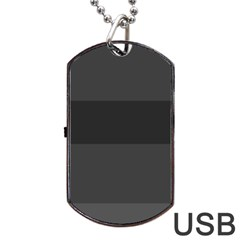 Gray And Black Thick Stripes Dog Tag Usb Flash (one Side)