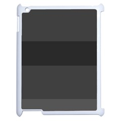 Gray And Black Thick Stripes Apple Ipad 2 Case (white)