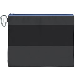 Gray And Black Thick Stripes Canvas Cosmetic Bag (xxxl)