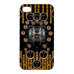 Foxy Panda Lady With Bat And Hat In The Forest Apple Iphone 4/4s Premium Hardshell Case