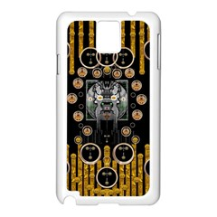 Foxy Panda Lady With Bat And Hat In The Forest Samsung Galaxy Note 3 N9005 Case (White)