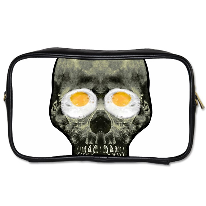 Skull With Fried Egg Eyes Toiletries Bags 2-Side