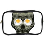 Skull With Fried Egg Eyes Toiletries Bags 2-Side Back