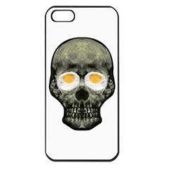 Skull With Fried Egg Eyes Apple Iphone 5 Seamless Case (black)