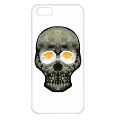 Skull With Fried Egg Eyes Apple Iphone 5 Seamless Case (white)