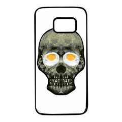 Skull With Fried Egg Eyes Samsung Galaxy S7 Black Seamless Case
