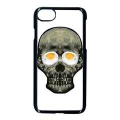 Skull With Fried Egg Eyes Apple Iphone 7 Seamless Case (black)