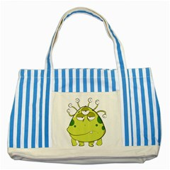 The Most Ugly Alien Ever Striped Blue Tote Bag