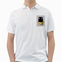 Black Cat In A Box Golf Shirts