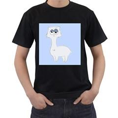 Grumpy Persian Cat Llama Men s T Shirt (black) (two Sided)