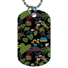 Wreaths Flower Floral Leaf Rose Sunflower Green Yellow Black Dog Tag (one Side)