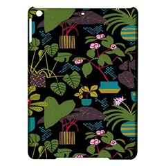 Wreaths Flower Floral Leaf Rose Sunflower Green Yellow Black Ipad Air Hardshell Cases