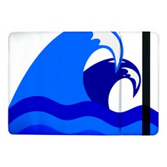 Blue Beach Sea Wave Waves Chevron Water Samsung Galaxy Tab Pro 10 1  Flip Case