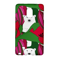 Animals White Bear Flower Floral Red Green Galaxy Note Edge
