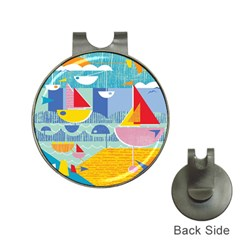 Boats Ship Sea Beach Hat Clips With Golf Markers