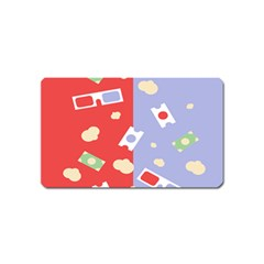 Glasses Red Blue Green Cloud Line Cart Magnet (name Card)