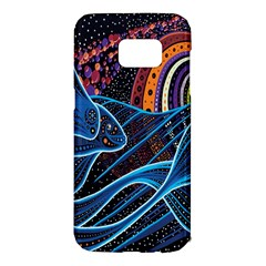 Fish Out Of Water Monster Space Rainbow Circle Polka Line Wave Chevron Star Samsung Galaxy S7 Edge Hardshell Case