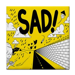 Have Meant  Tech Science Future Sad Yellow Street Face Towel