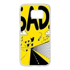 Have Meant  Tech Science Future Sad Yellow Street Samsung Galaxy S7 Edge White Seamless Case