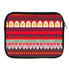 Fabric Aztec Red Line Polka Circle Wave Chevron Star Apple Ipad 2/3/4 Zipper Cases