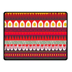 Fabric Aztec Red Line Polka Circle Wave Chevron Star Double Sided Fleece Blanket (small)