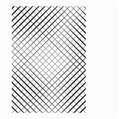 Simple Pattern Waves Plaid Black White Small Garden Flag (two Sides)