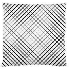Simple Pattern Waves Plaid Black White Large Flano Cushion Case (two Sides)