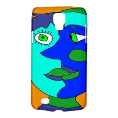 Visual Face Blue Orange Green Mask Galaxy S4 Active