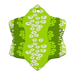 Sunflower Green Ornament (snowflake)