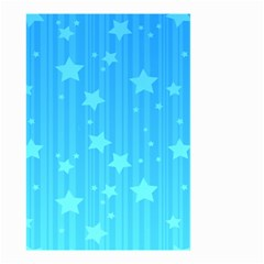 Star Blue Sky Space Line Vertical Light Small Garden Flag (two Sides)