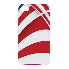 American Flag Star Blue Line Red White Apple Iphone 4/4s Premium Hardshell Case
