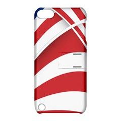 American Flag Star Blue Line Red White Apple Ipod Touch 5 Hardshell Case With Stand