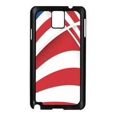 American Flag Star Blue Line Red White Samsung Galaxy Note 3 N9005 Case (black)