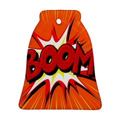 Boom Sale Orange Bell Ornament (two Sides)