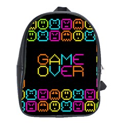 Game Face Mask Sign School Bags(large)